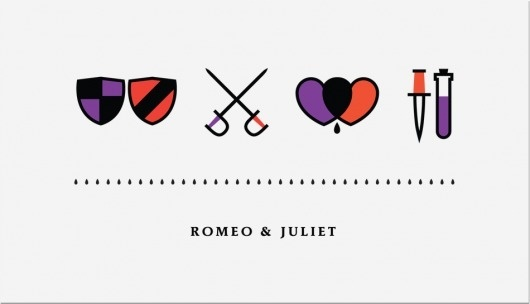 Iconic #design #graphic #icons #juliet #romeo #shakespear