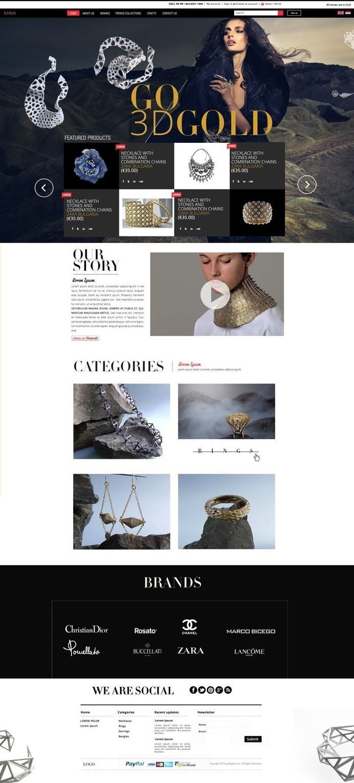 Home page #homepage #design #black #jewelry #fashion #layout #web
