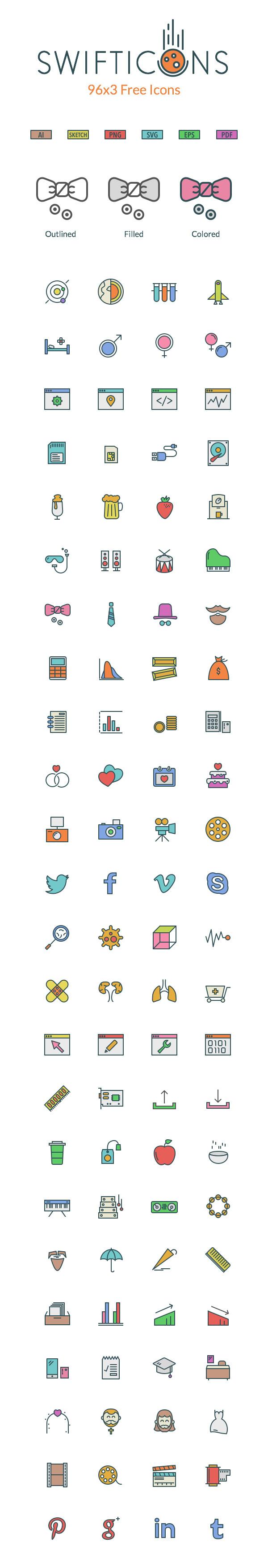 SwiftIcons : 288 Free High Quality Icons