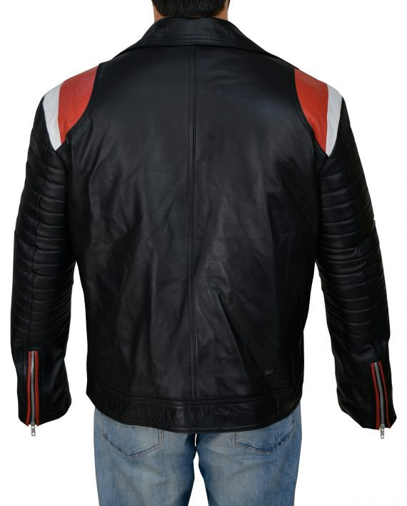 Ryan Gosling Blue Valentine Motorcycle Leather Jacket (6) F-B