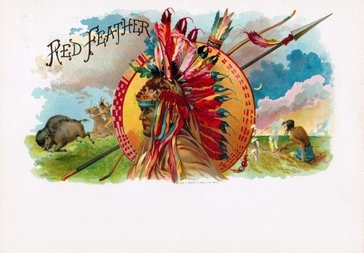 Google Image Result for http://cigarlabelblog.files.wordpress.com/2010/04/indian-red-feather.jpg #cigar #indian #label #feathers