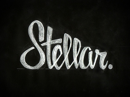 Stellar. by Zack Smith #script #design #logo #type #sketch