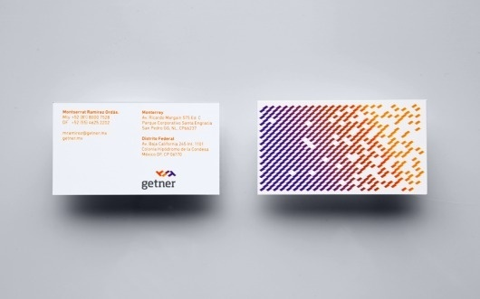 Anagrama | Getner #anagrama #business #card #mexican #identity #stationery #spectrum