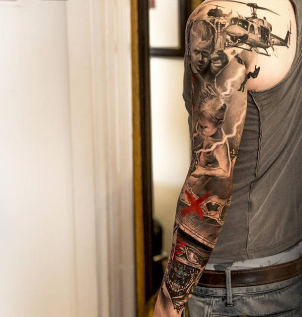 55+ Awesome Examples of Full Sleeve Tattoo Ideas #ideas #tattoo #sleeve