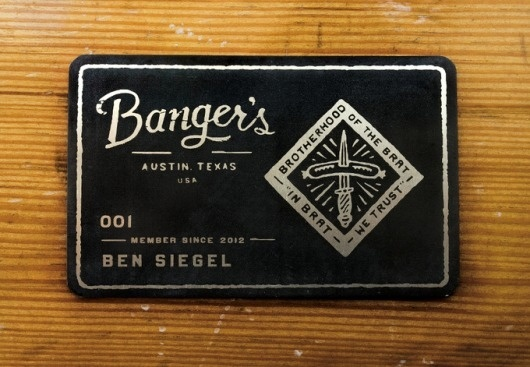 """Banger's"" business card #bangers #jinkins #card #print #design #black #curtis"
