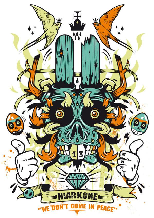 I Love ( weirds ) Rabbits BloodSweatVector #vector #bloodsweatvector #illustration #rabbit #niark1