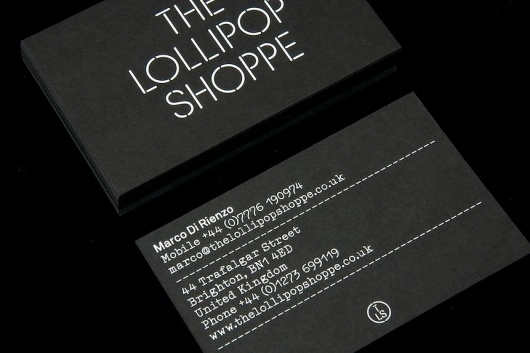 StudioMakgill - The Lollipop Shoppe #business #card #identiy #branding