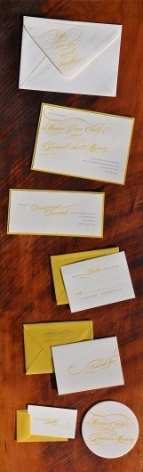 So Good Together Letterpress Stationery #invitations #lettering #script #stationery