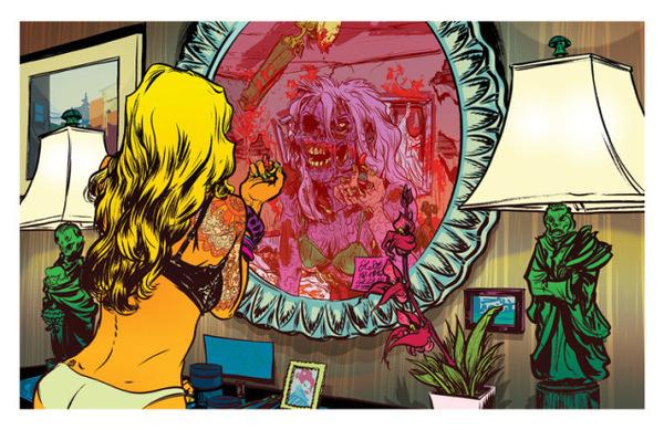 Atlantic Zombie Comic Style Geek Art By Nathan Fox