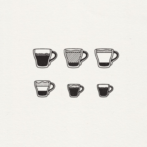 espresso beverage icon set #coffee #espresso #diagram #icon