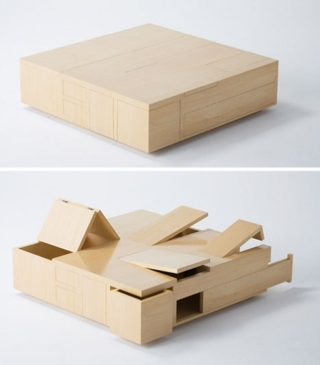 MAKE | Plywood Table is All Secret Compartment #tables #furniture