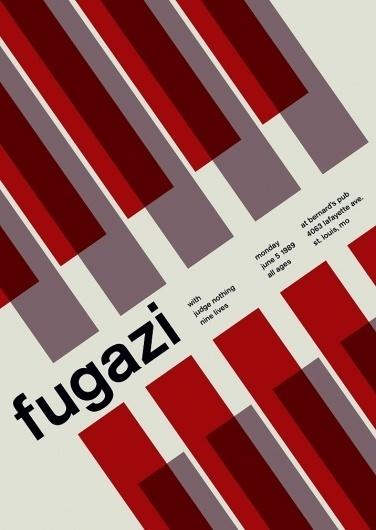 fugazi at bernard's pub, 1989 - swissted #print #design #graphic #posters