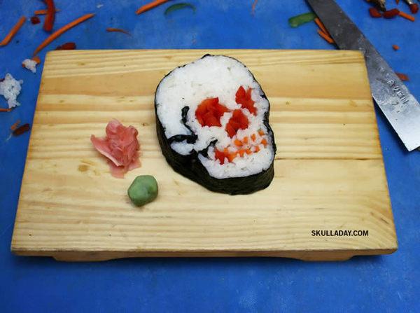 A Sushi skull by Noah Scalin. #sushi #skull #noah #scalin