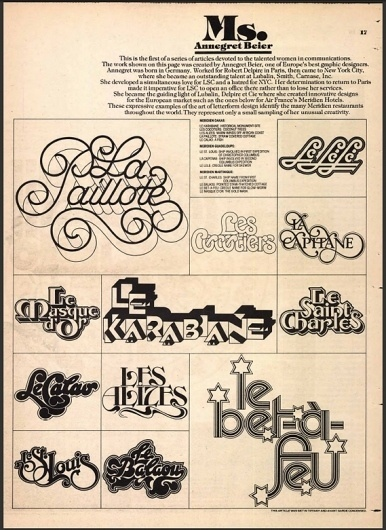 Creative Review - U&lc lives #graphic #typography