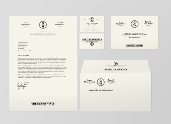 The Grand Wines : boocles #identity #stationary