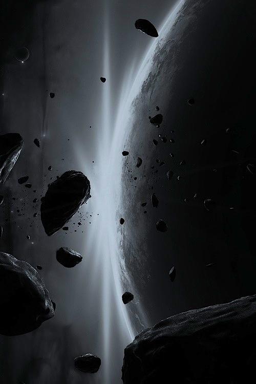 OTAKU GANGSTA #planet #asteroid #floating #collision