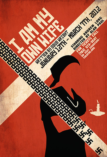 I Am My Own Wife #theater #design #poster