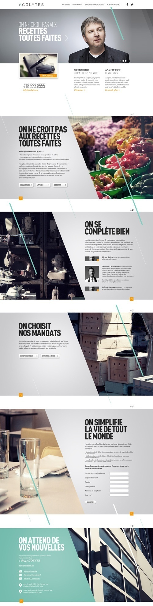 Web Design / Acolytes by Alexandre Desjardins, via Behance #website