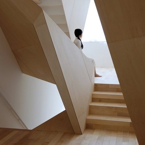 Dezeen » Blog Archive » New Kyoto Town House by ALPHAville #interior #alphaville #house #new #town #wood #architecture #kyoto