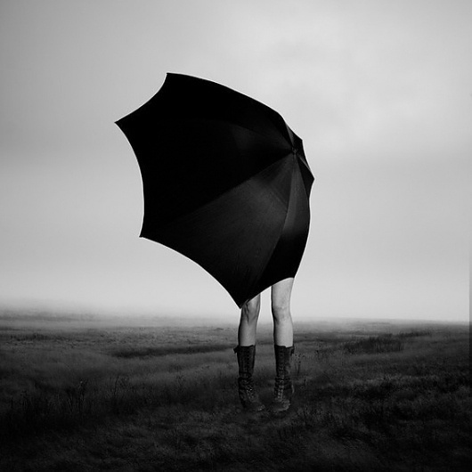 Girl with Umbrella 27x27 Framed Matted Behind by eddieobryanphoto #white #umbrella #girl #black #photography #and