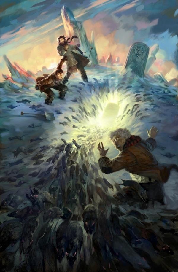 Fantasy on the Behance Network #fantasy #rats #portal #grave #illustration #swarm #magic