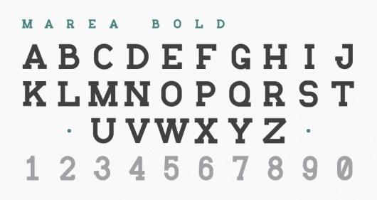 Marea: A Marine Typography « daniel cbs #serif #marea #slab #type #danielcbs