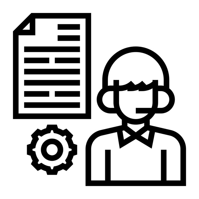 See more icon inspiration related to advisor, mentor, report, account, customer support, files and folders, headphones, communications, service, user, boy and files on Flaticon.