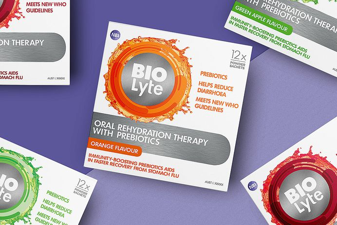 NBI BIOLYTE #packaging #branding #design #colour #splash #inspiration #health #graphicdesign #box #fmcg #handlebranding
