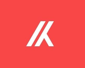 K by marvin k. #simple #logo #design