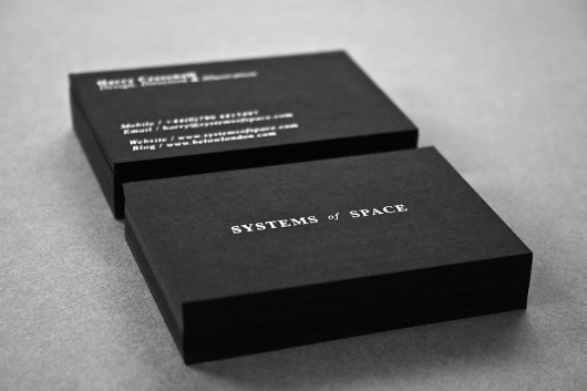 Systems of Space #white #business #branding #card #black