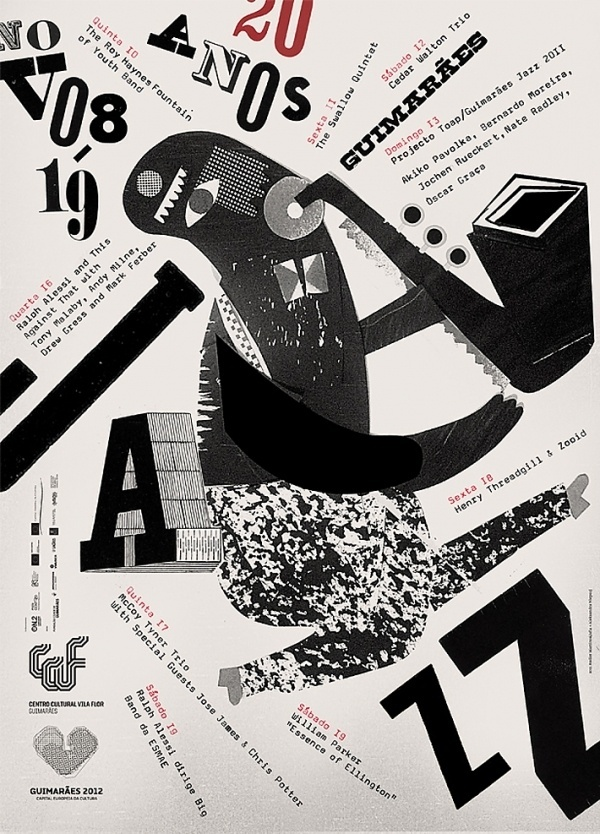 guimares jazz posters feel desain script jazz graphic vintage poster