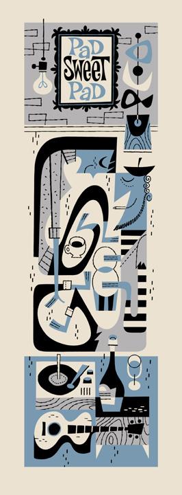 Pad Sweet Pad #derek #illustration #retro #beatniks