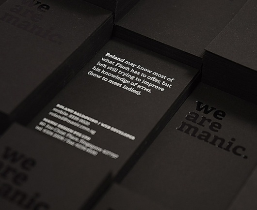 SHORT BIO BLURB Category: Talents » Jonas Eriksson #design #business card #letterpress