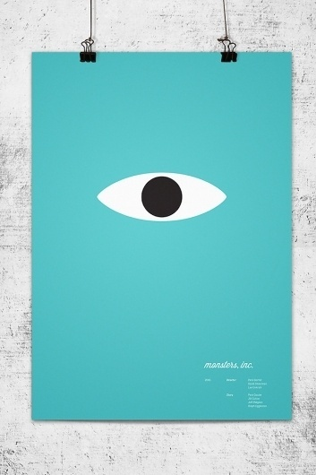 Pixar Characters, Reduced To Their Essence In Simple, Tender Logos | Co.Design: business + innovation + design #simplicity #poster #film #blue #aqua #pixar