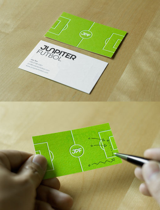 Junpiter Football #business #card #print #identity #sport #football #green