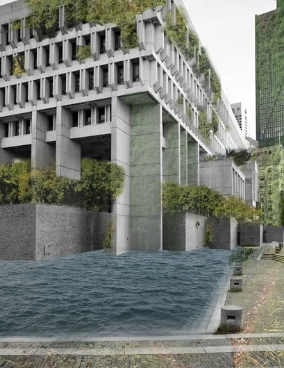 Somewhere Between Now and Then. #architecture #collage #nature #boston #city hall