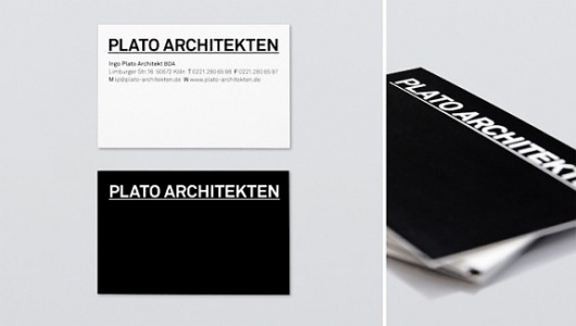 Plato Architekten #card #architecture #minimal #business