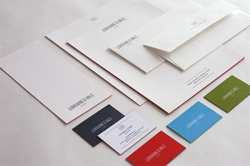design work life » cataloging inspiration daily #envelopes #white #red #business #collateral #blue #letterhead #cards #green