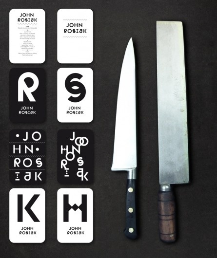 Atelier Müesli – Design graphique #knives #rosiak #john #branding