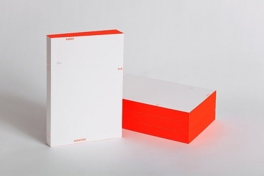 Kunst als Negation | Slanted - Typo Weblog und Magazin #red #box
