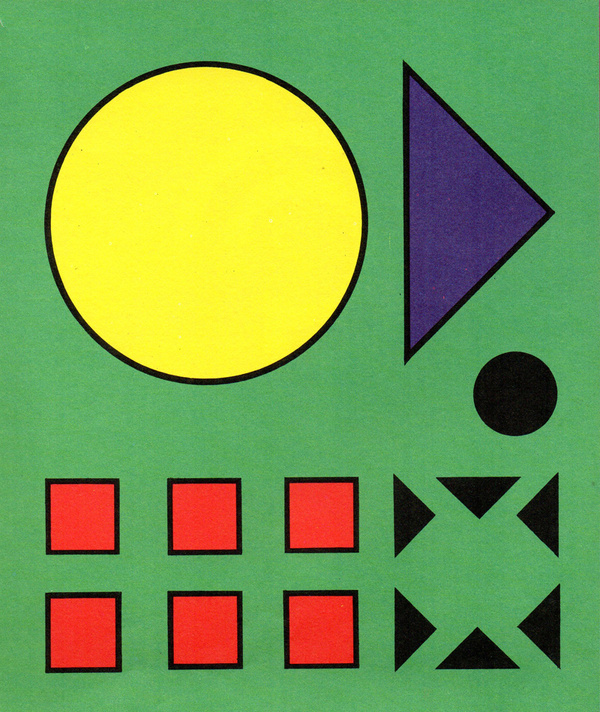 Shapes #red #yellow #circles #black #purple #triangles #squares #green