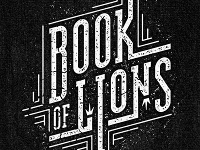 Dribbble - Book of Lions by Jeff Finley #badge #typography