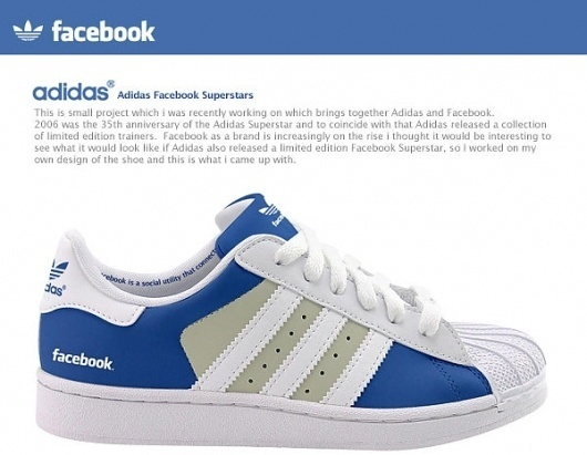 Adidas Facebook Superstars on the Behance Network