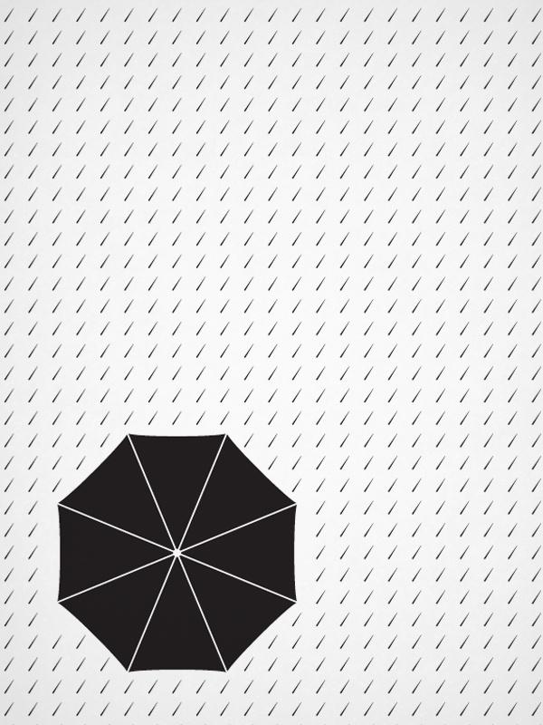 """""""Il lusso di essere semplici"""" Illustrazioni on Behance #drawings #pattern #white #design #graphic #book #black #illustration #rain #editorial"""