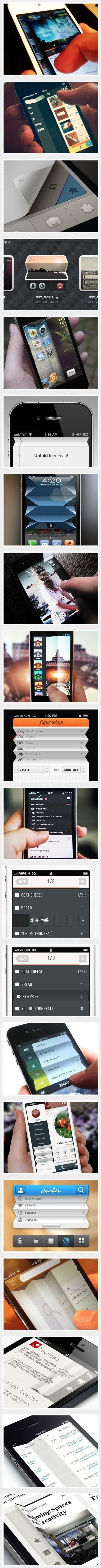Paper Fold UI #interface #ui