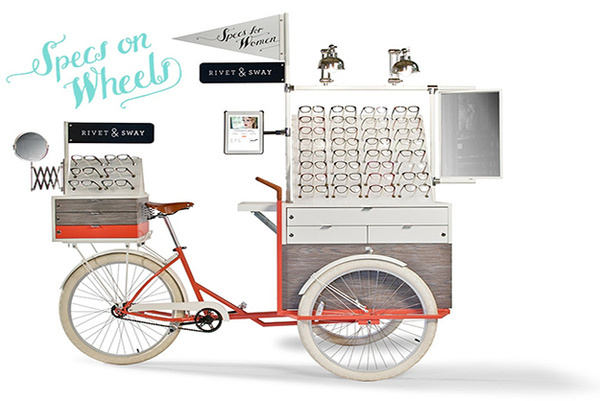 Tricycle Pop Up Shop Pedals Eyeglasses To Salon Goers [Pics] #strike