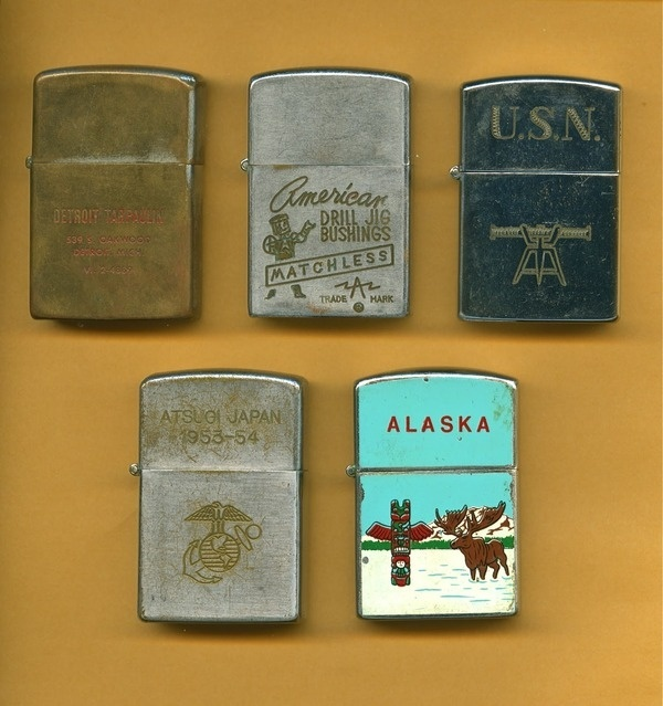 Illustrated Zippos #typetoy #etchings #alaska #vintage #lighter #zippo #metal