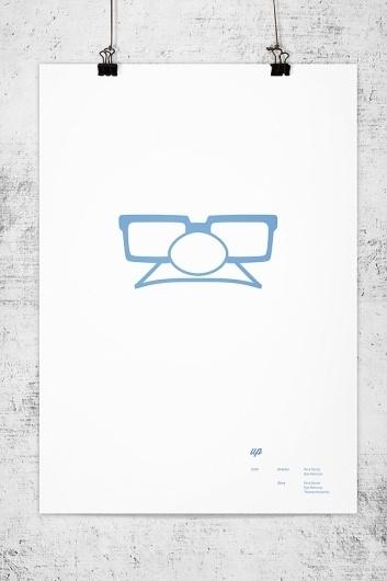 Pixar Minimal Posters on the Behance Network #lee #wonchan #minimalism #rmit #melbourne #tribute #minimal #poster #minimalist #pixar