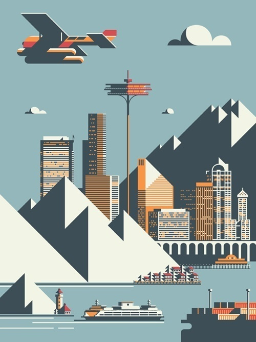 seattle / Rick Murphy #city #design #seattle #angles