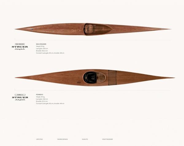 Struer Kajak Brand Identity on Behance #water #kajak #wood #boat #logo
